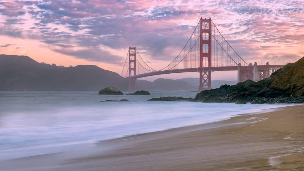 best beaches in california - Baker Beach