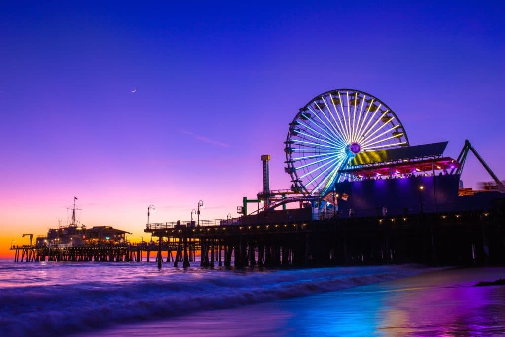 best beaches in california - Santa Monica