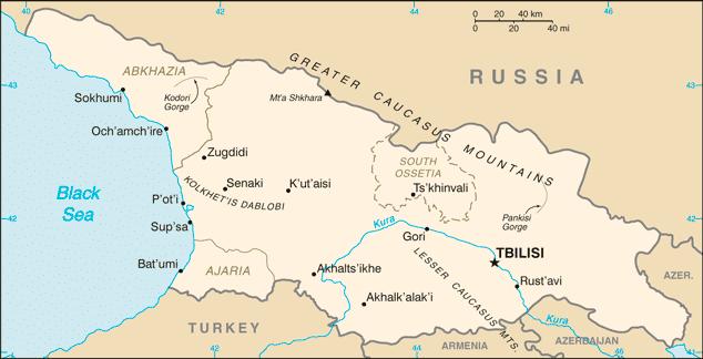 Georgia - map
