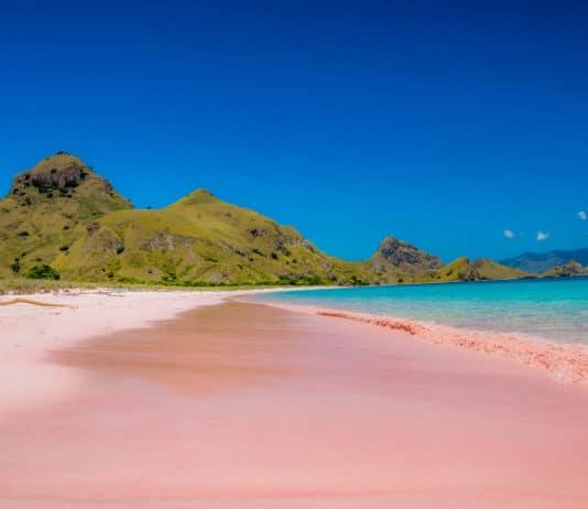 pink sand beach - Komodo, Indonesia