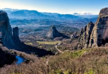 travel, greece, trekbible, meteora, history, historical sites, outdoors, rock climbing, hiking, mountains,