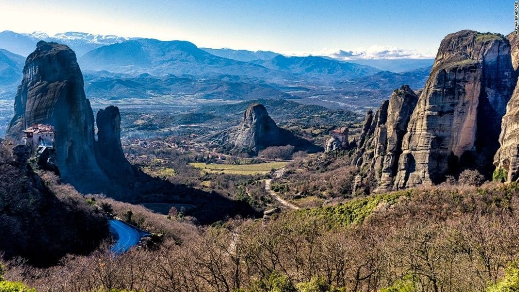 travel, greece, trekbible, meteora, history, historical sites, outdoors, rock climbing, hiking, mountains,