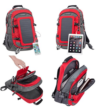solar panel backpack - Storage