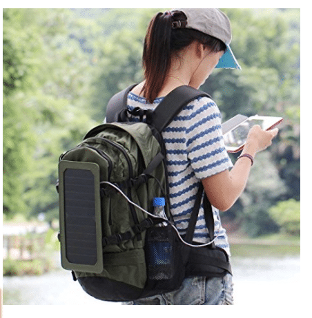 solar panel backpack - Stylish Design