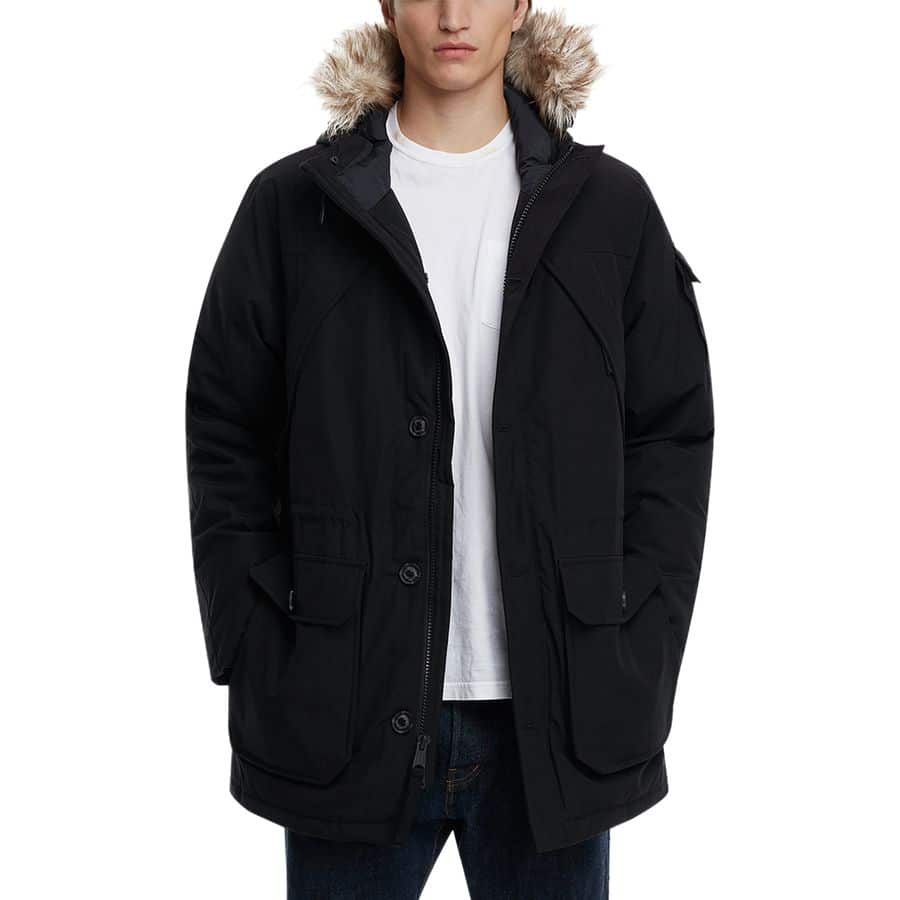 Faux Fur Hooded Down Mountain Parka