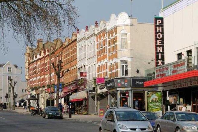 London streets - High Road, East Finchley