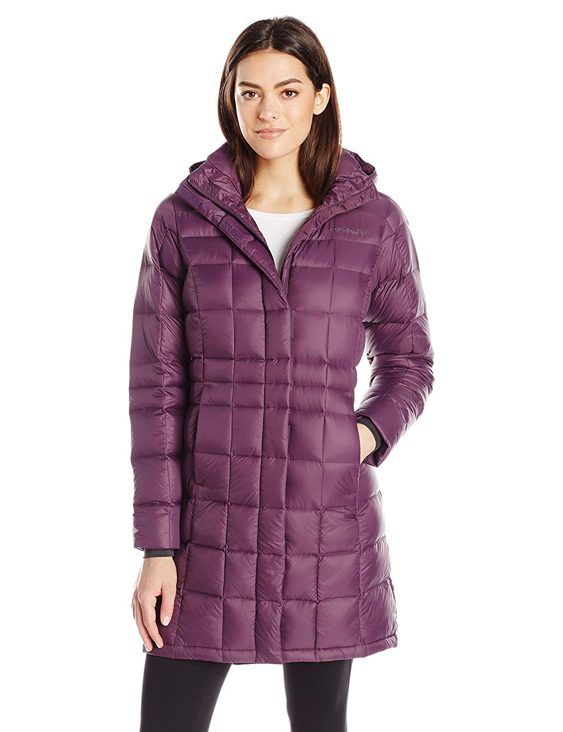 columbia hexbreaker long down jacket Style