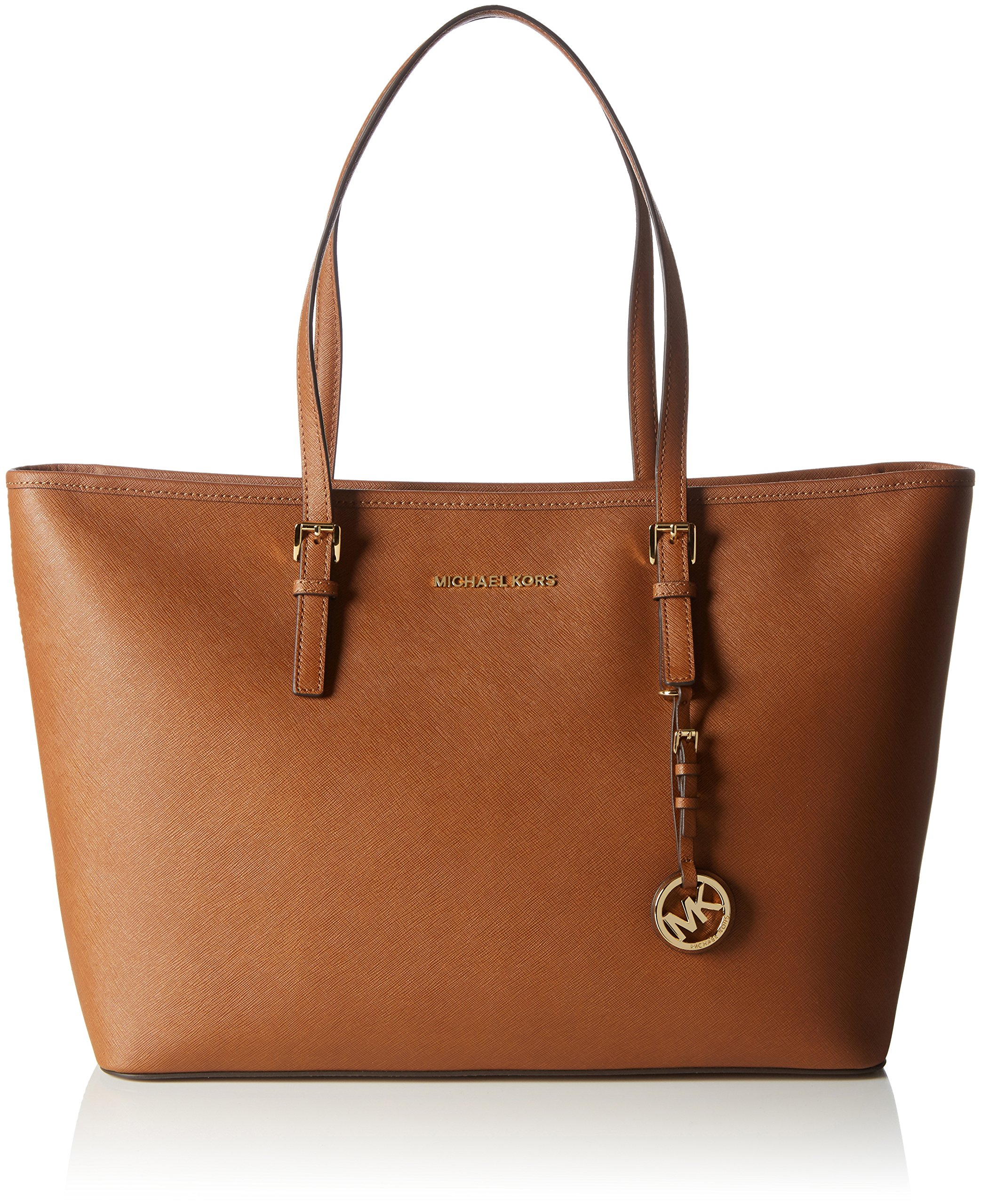 786b9a9a6268 Michael Kors Jet Set Travel Medium Saffiano Leather Top-Zip Tote, michael  kors jet