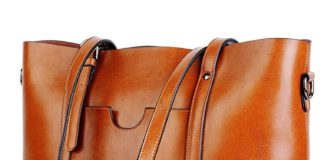 YALUXE Vintage Style Soft Leather Work Tote