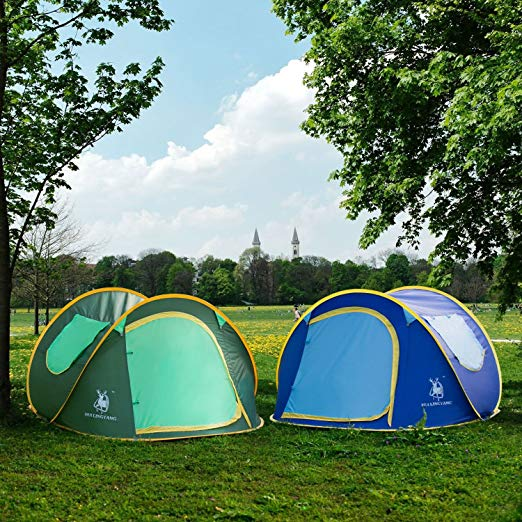 Hui LingYang Instant 4-Person Pop Up Dome Tent