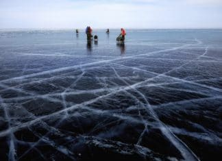 ice fishing lakes