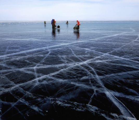 ice fishing lakes