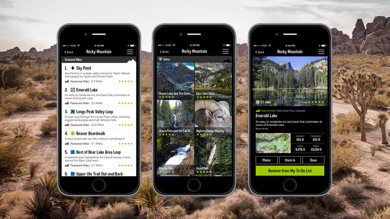 best hiking apps - REI - National Parks
