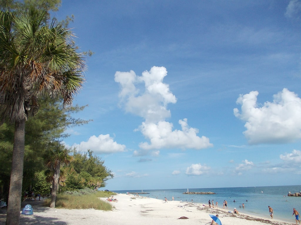 best beaches in key west - Fort Zachary Taylor Beach