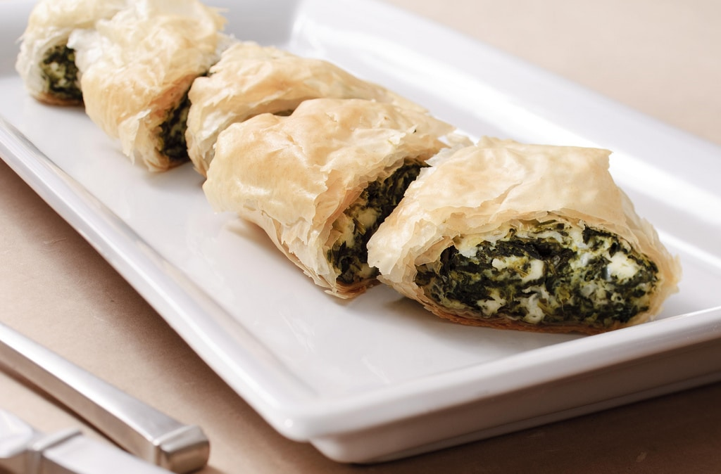 Mediterranean food - Spanakopita/Boreg
