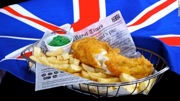 British foods to try in london - Fish & Chips
