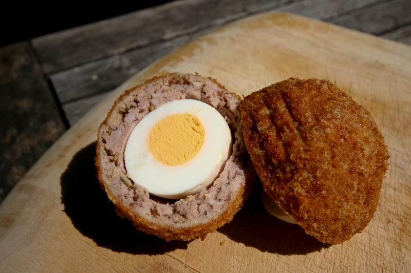 British foods to try in london - Scotch Egg