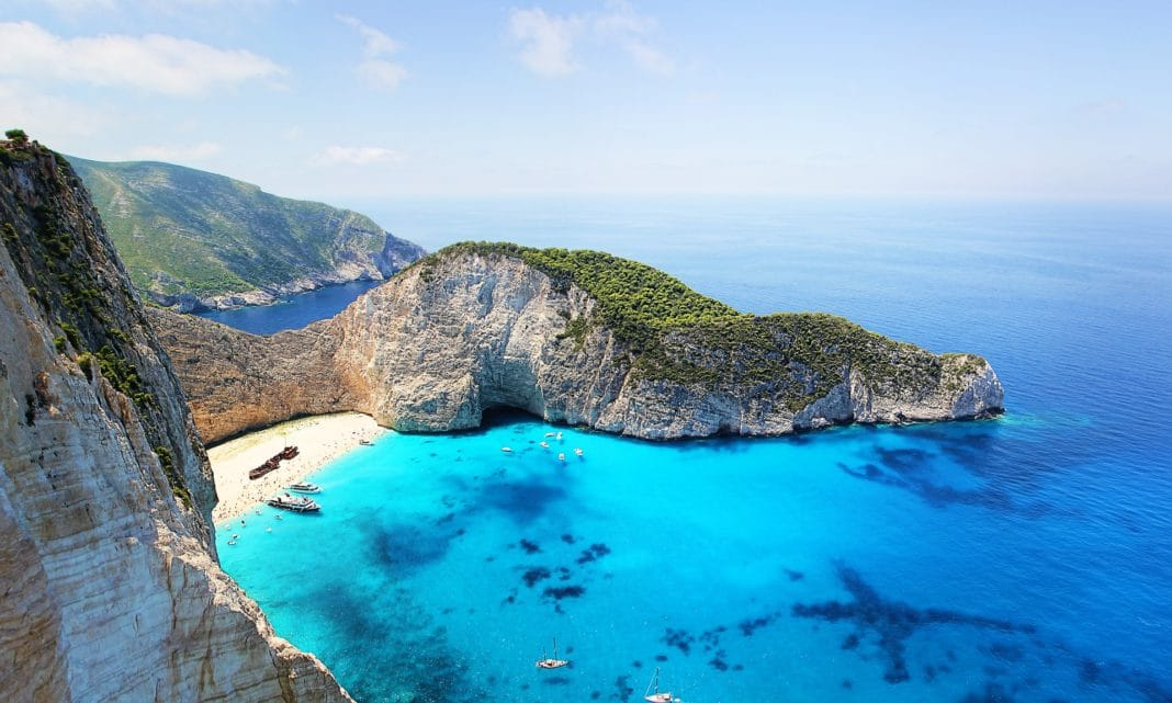 best tropical vacations - Zakynthos, Greece