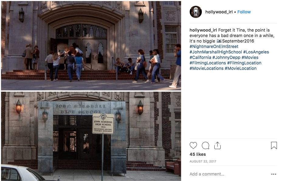 filming locations - Elm Street
