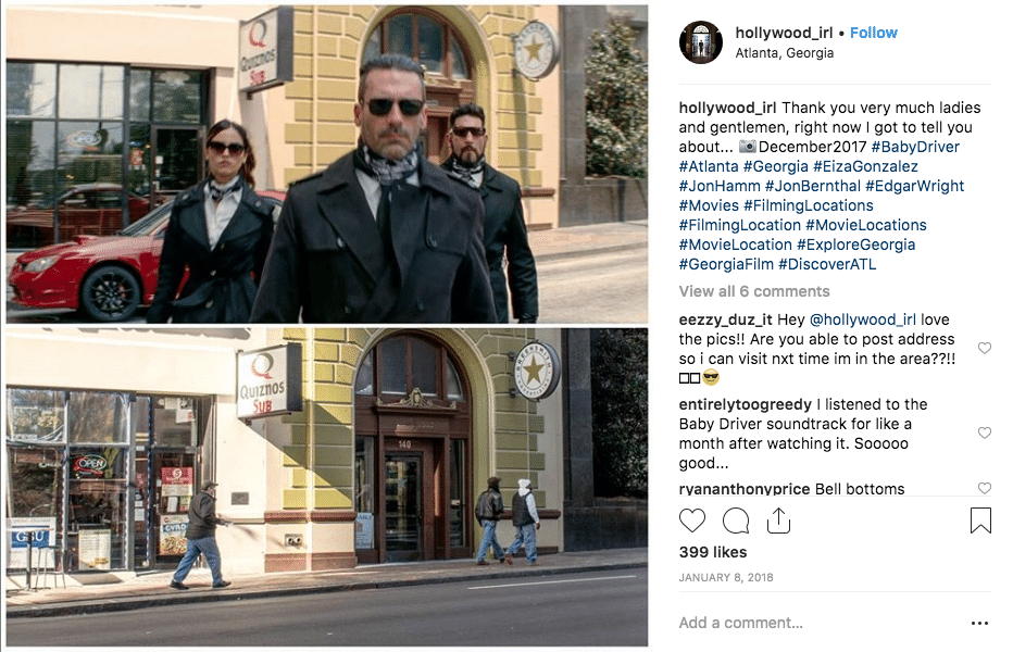 filming locations - Baby Driver