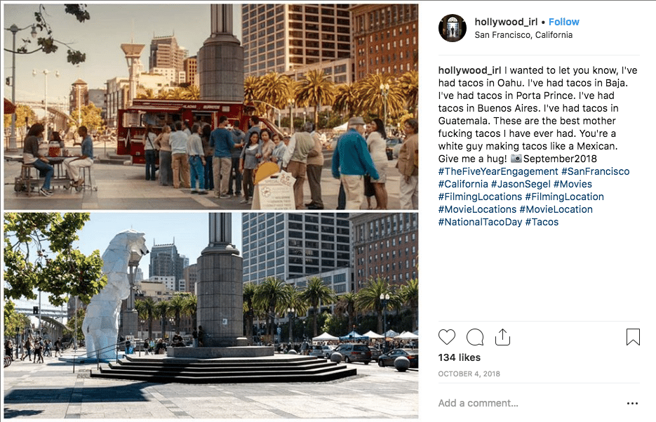 filming locations - Five Year Engagement