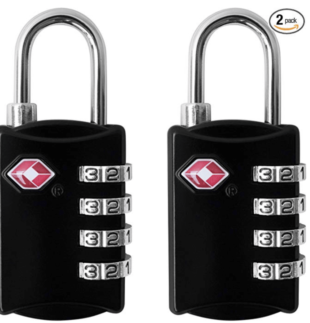 tsa approved locks - 4 Digit Combination Steel Padlocks