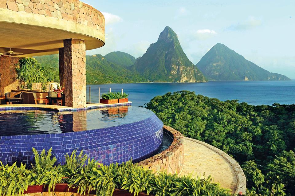 best all inclusive resorts in the Caribbean - Jade Mountain Resort