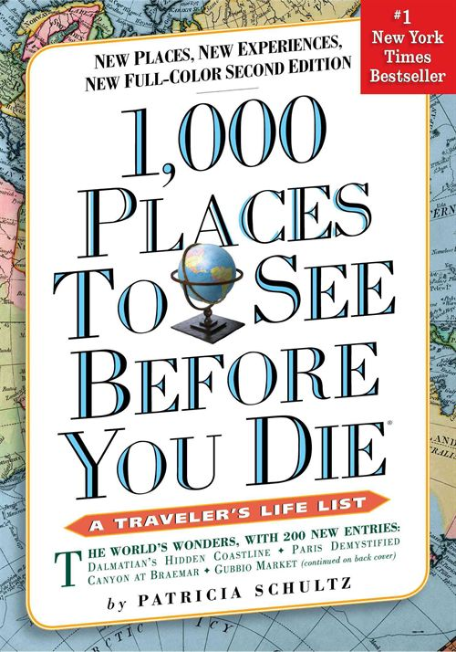 best travel books - 1,000 Places to See Before You Die, Patricia Shultz