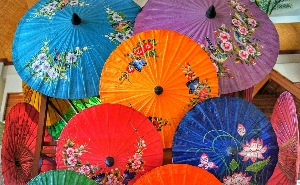 best places to visit in thailand - Bor Sang Umbrella Village