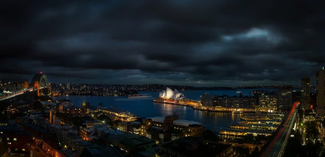 Moving to Australia - Lighted City Landscape