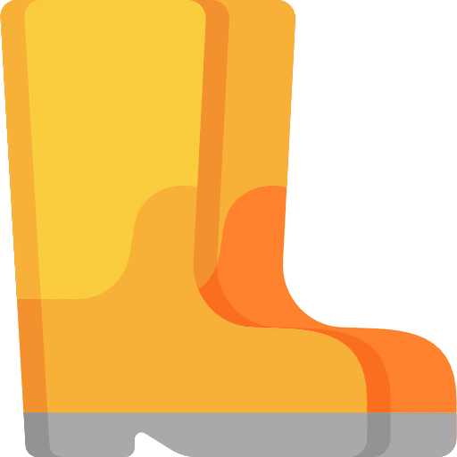 Yellow and orange boots icon