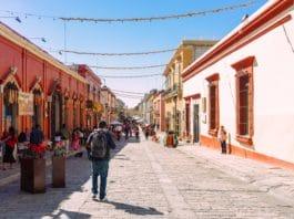 a street in oaxaca, mexico